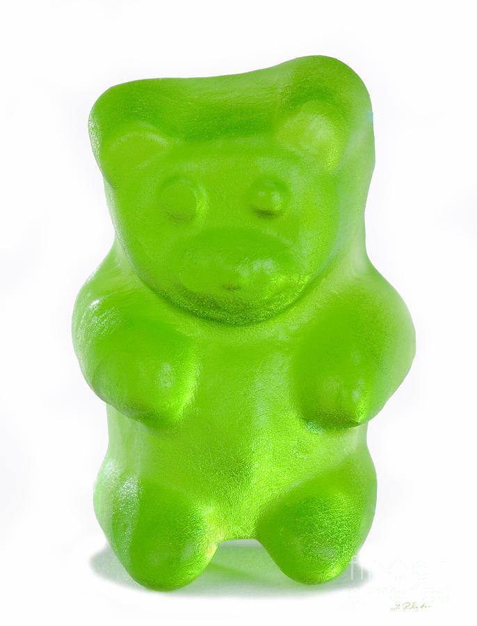 Green Gummy Bear Photograph By Iris Richardson
