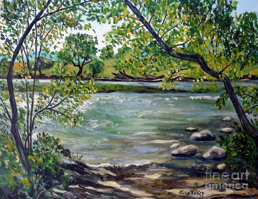Green Hill Park on the Roanoke River by Julie Brugh Riffey