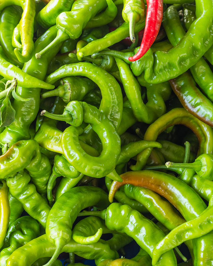 Agriculture Photograph - Green Hot Peppers by John Trax
