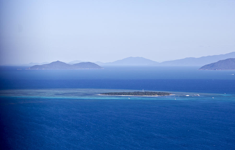 Green Island Photograph - Green Island With Fitzroy Island In The Back Ground by Debbie Cundy