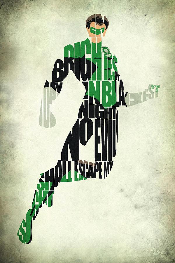 Green Lantern Digital Art - Green Lantern by Inspirowl Design