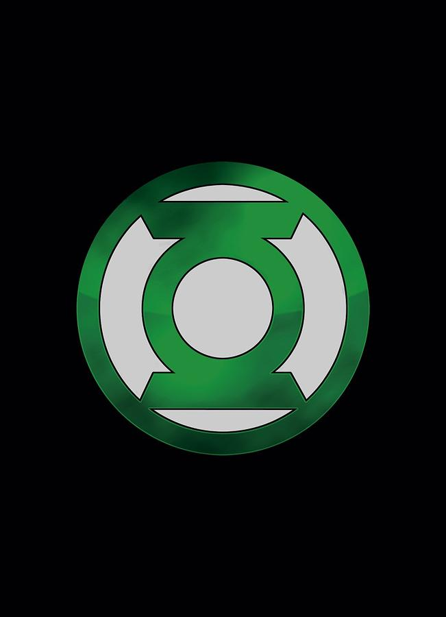 Green Lantern - Green Chrome Logo Digital Art by Brand A