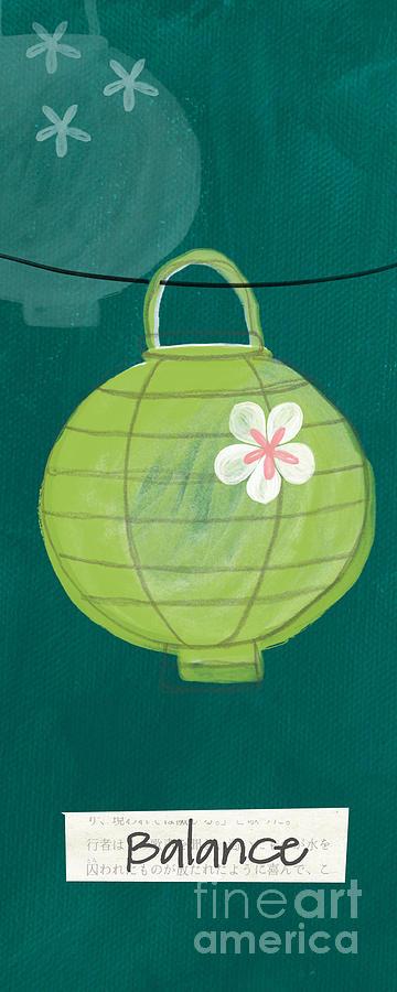 Balance Painting - Green Lantern  by Linda Woods