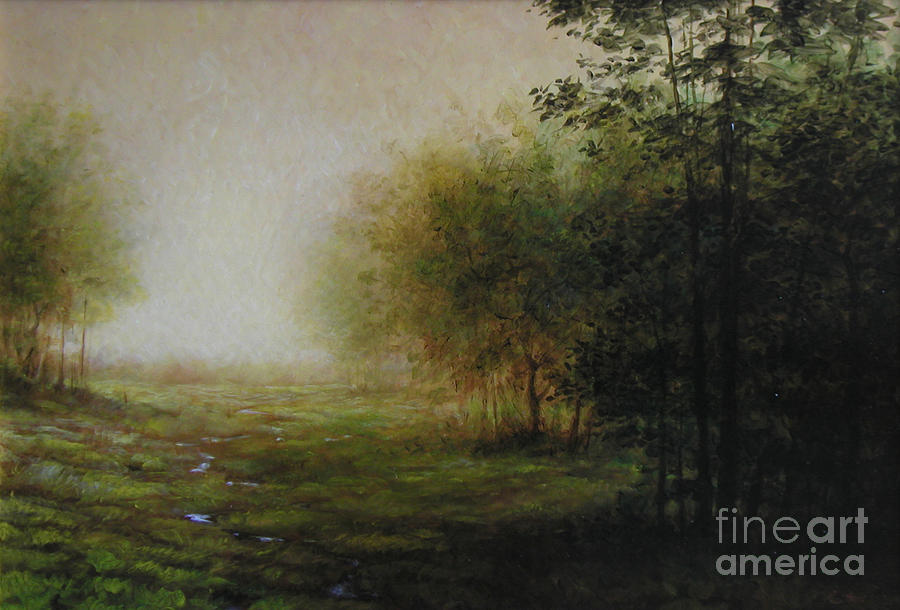 Landscape Painting - Green by Lawrence Preston