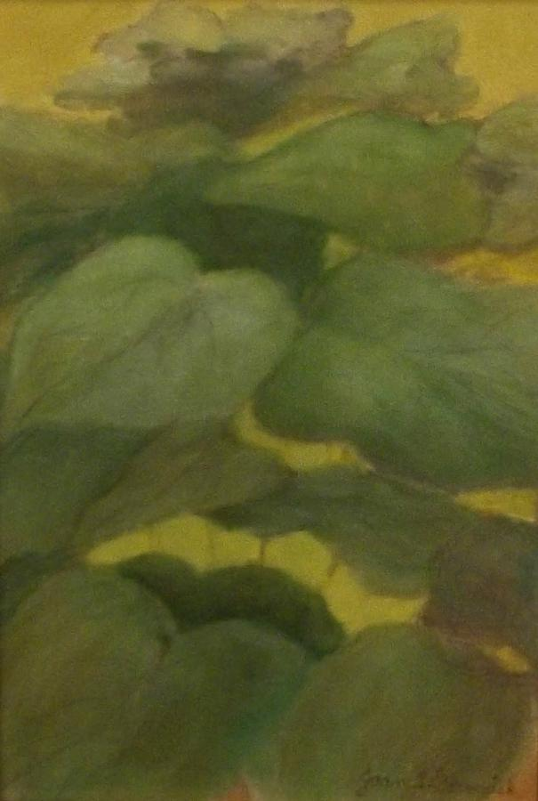 Plants Painting - Green Leaves by Joan Garverick