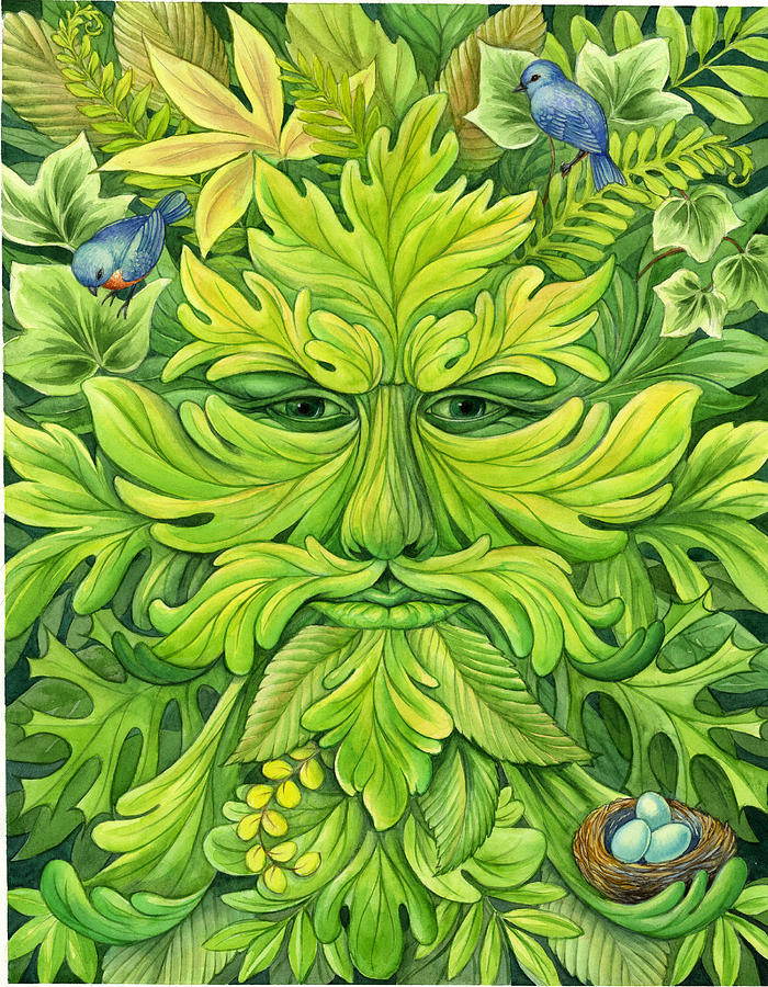 Green Man Barbara Lanza on Green Spiral Book