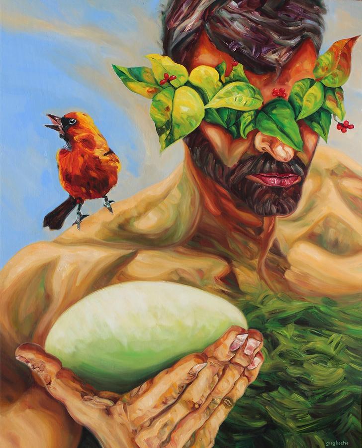 Green Man Painting