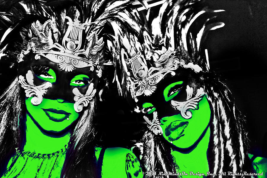 Two Photograph - Green Mask  by Ley Clarie Gray