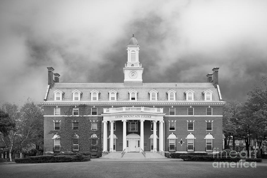 Green Mountain Photograph - Green Mountain College Ames Hall by University Icons