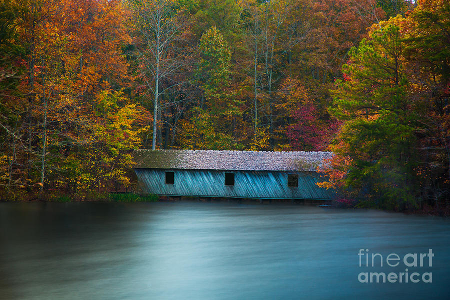 Green Mountain Covered Bridge Huntsville Alabama by T Lowry Wilson