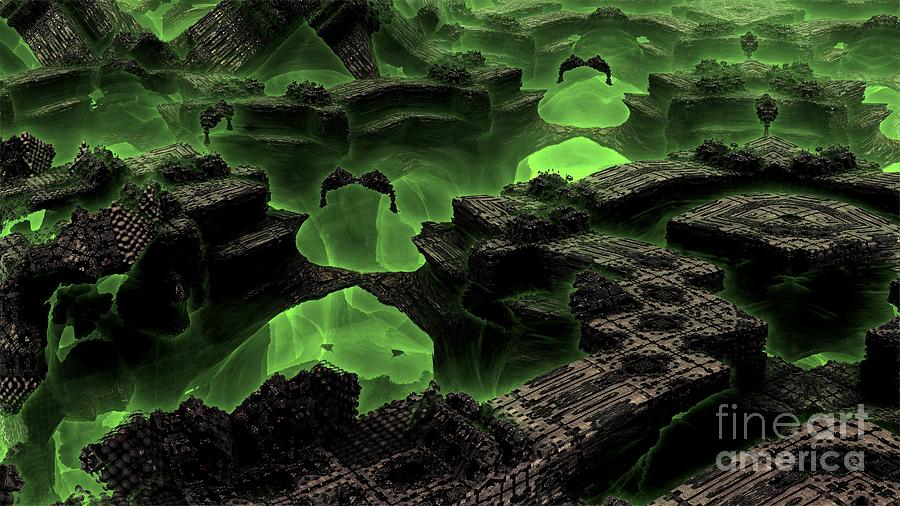 Fractal Art Digital Art - Green Odyssey by Bernard MICHEL