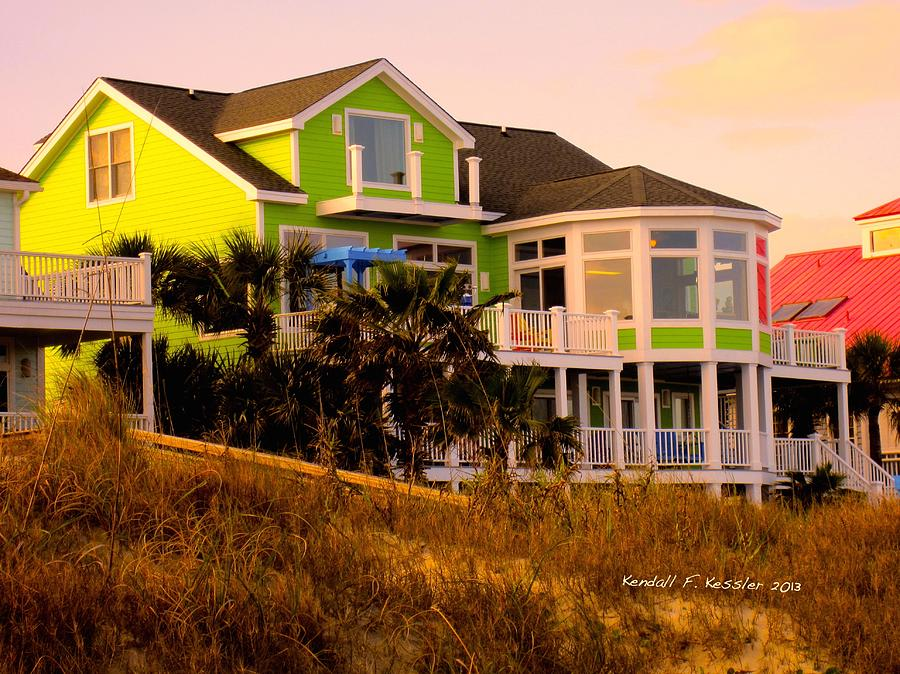 Isle Of Palms Photograph - Green On The Beach by Kendall Kessler
