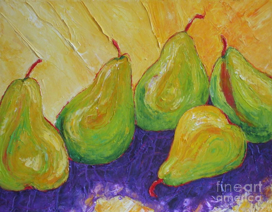 Kitchen Paintings Painting - Green Pears by Paris Wyatt Llanso