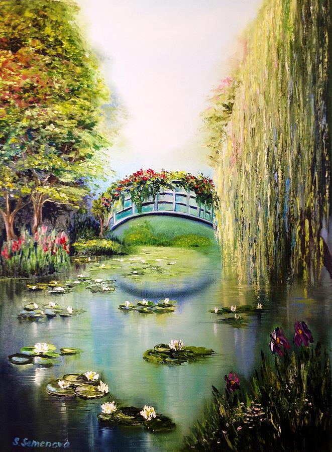 Landscape Painting - Green Pond by Svetlana Semenova