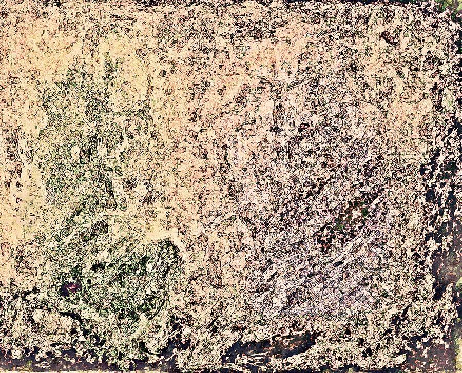 Meander Painting - Green Purple by Stanley Funk