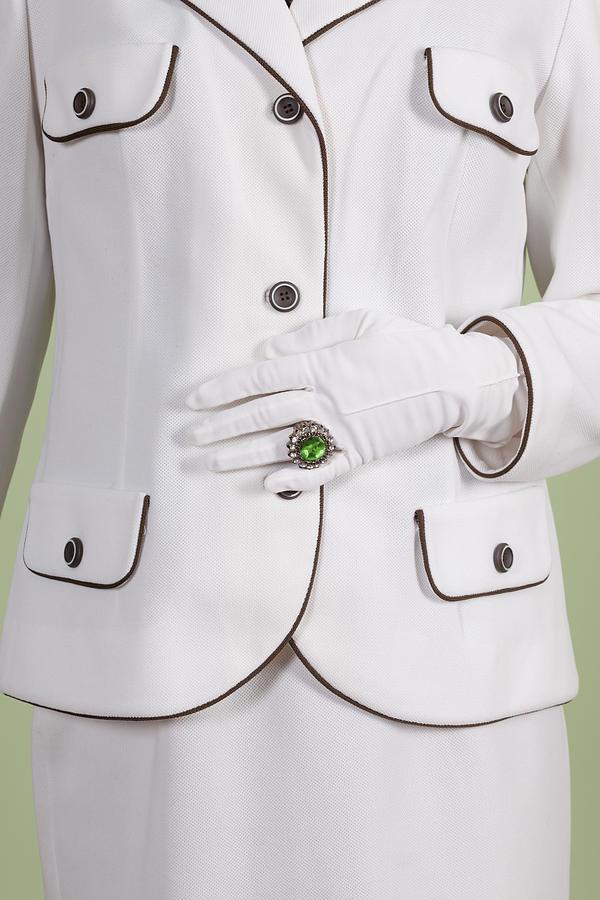 Woman Photograph - Green Ring by Joana Kruse