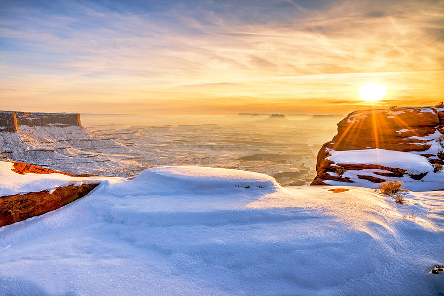 Green River Snow Photograph - Green River Snow by Chad Dutson