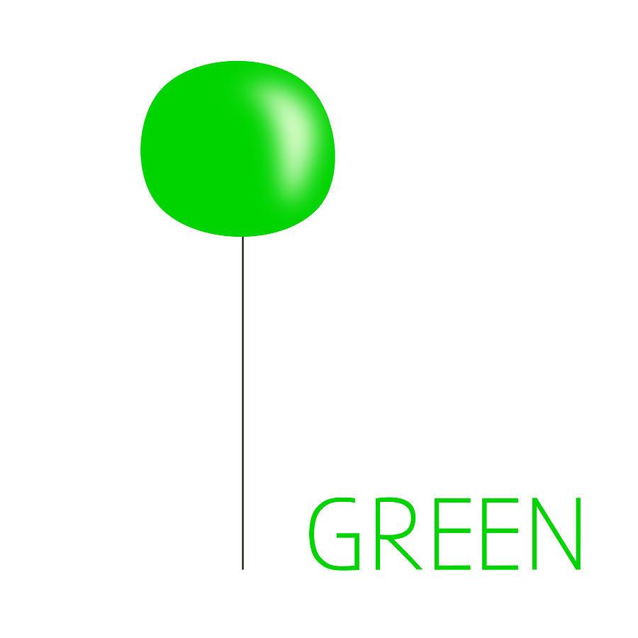 Green Digital Art - Green by Robyn Safarian