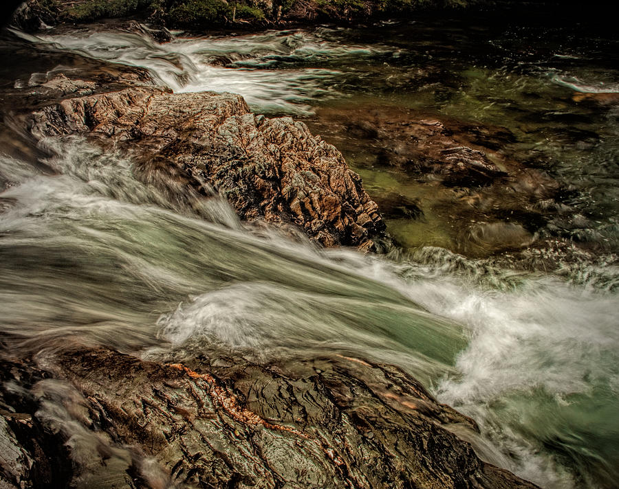 Water Photograph - Green Stream by Dave Bosse