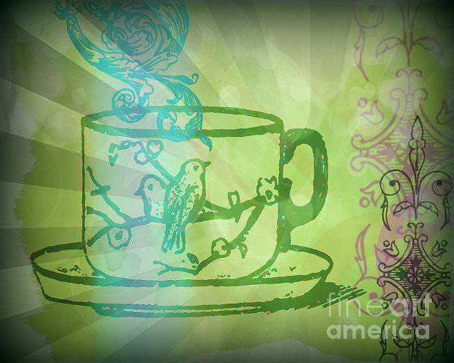 Green Tea  Mixed Media by Wendy Wiese
