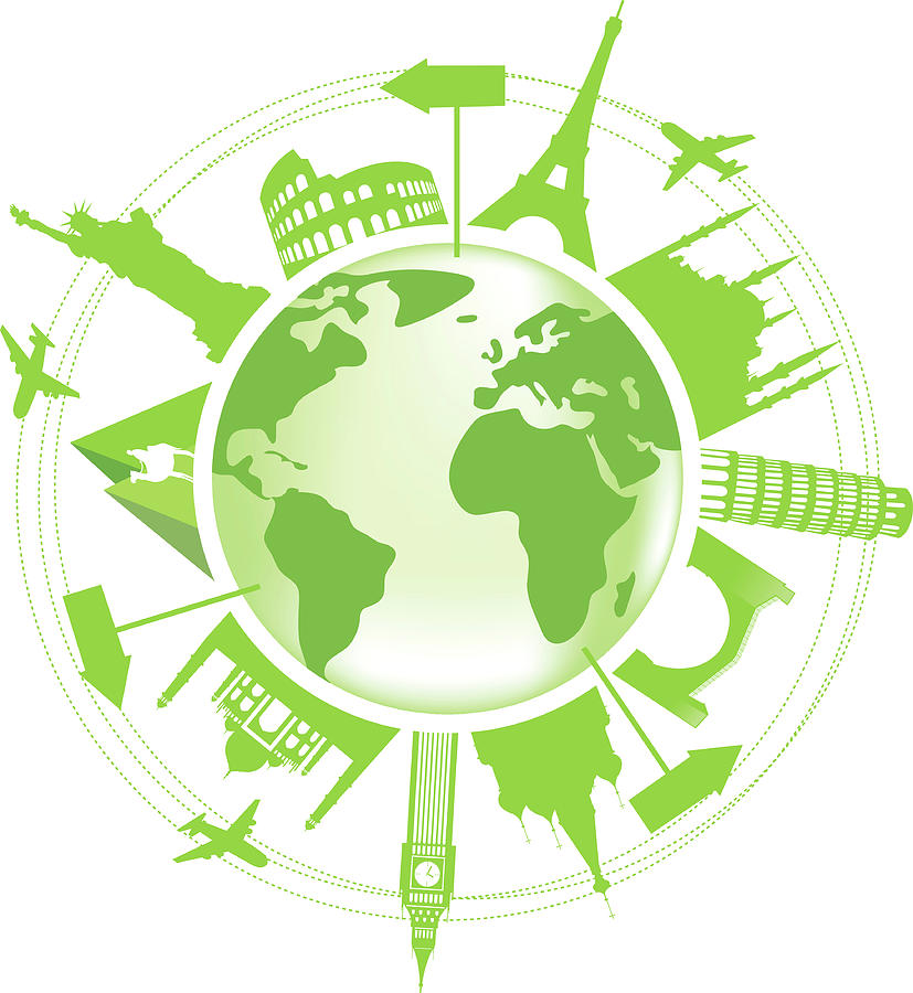 Green Travel Symbol Digital Art by Halepak