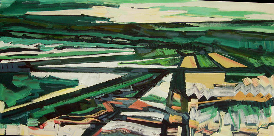 Greens Painting - Green Valley Views by Catherine Jones Davies