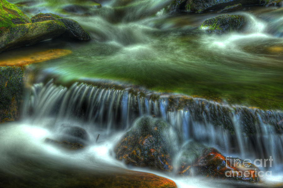 Ricketts Glen Photograph - Green Waters by Paul W Faust -  Impressions of Light