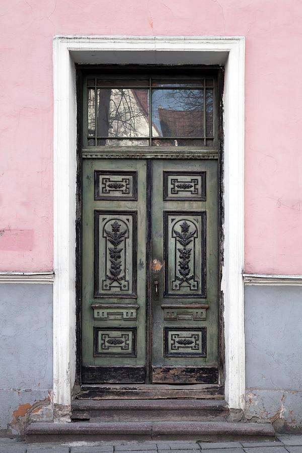 Green Wooden Door In Old Building Photograph by Eugenesergeev