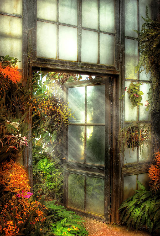 Savad Photograph - Greenhouse - The Door To Paradise by Mike Savad