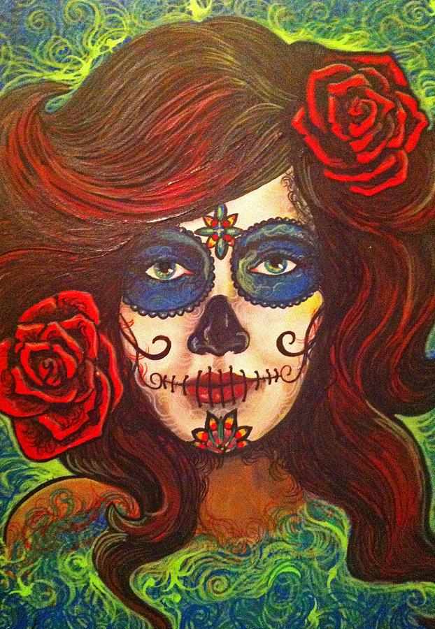 Greenlady Painting by LadyV Varsha