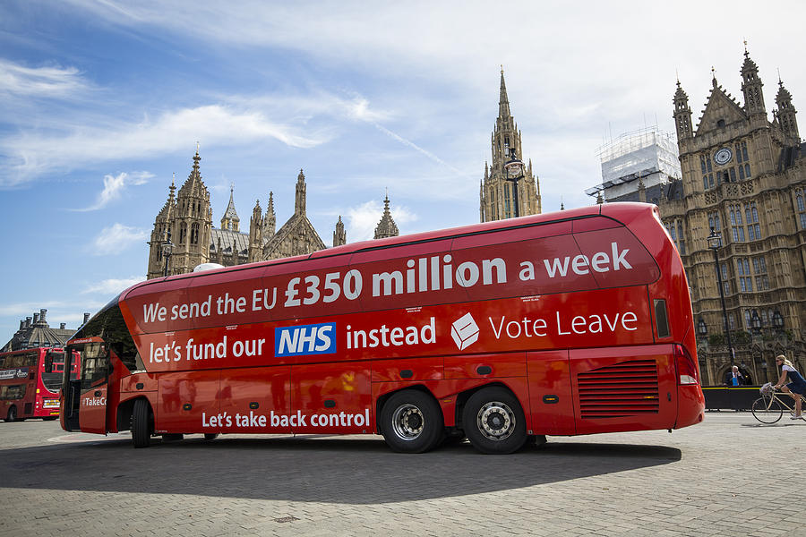 Greenpeace Re-brands Boris Johnsons Brexit Battlebus Photograph by Jack Taylor