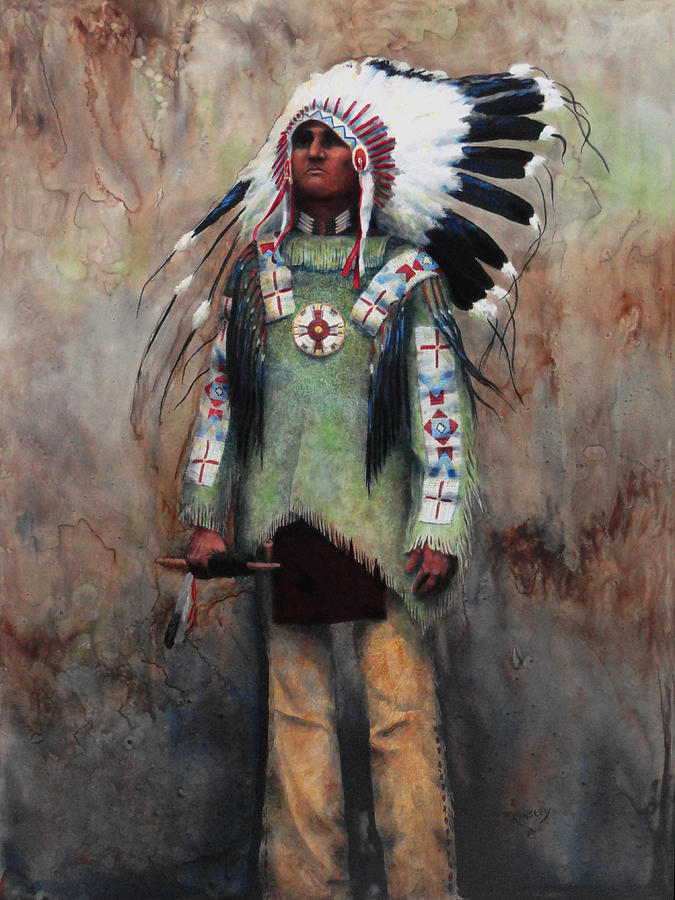 Indian Painting - Greenshirt by Ainsley McNeely