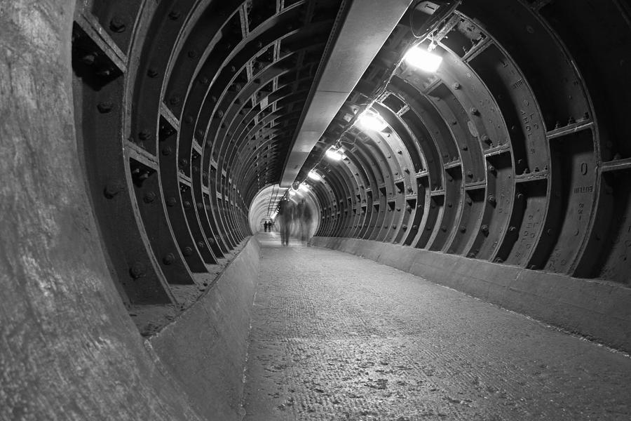 Greenwich Foot Tunnel Photograph - Greenwich Ghosts by Dan Davidson