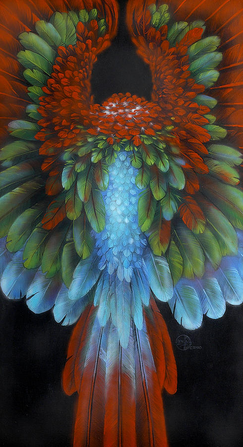 Macaw Painting - Greenwing by Lynette Yencho