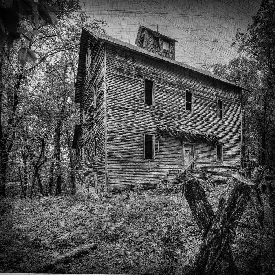 Mill Photograph - Greer Mill Black And White by Paul Freidlund