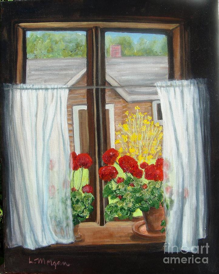 Windows Painting - Greet The Day by Laurie Morgan
