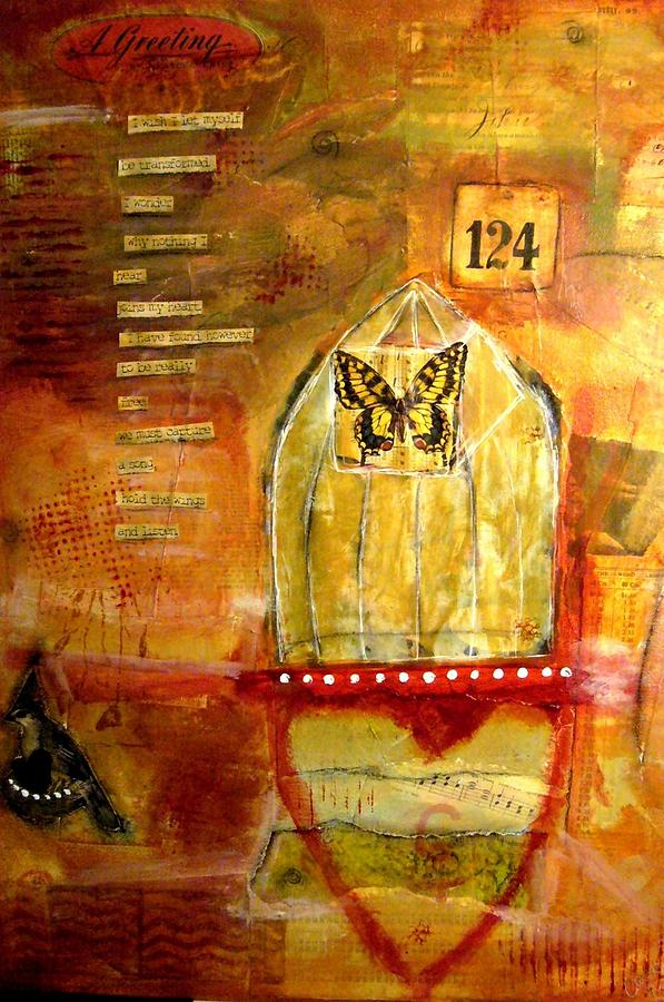 Mixed Mixed Media - Greeting by Carrie Todd