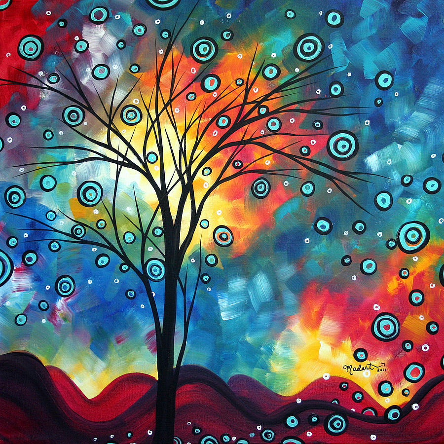 Wall Painting - Greeting The Dawn By Madart by Megan Duncanson