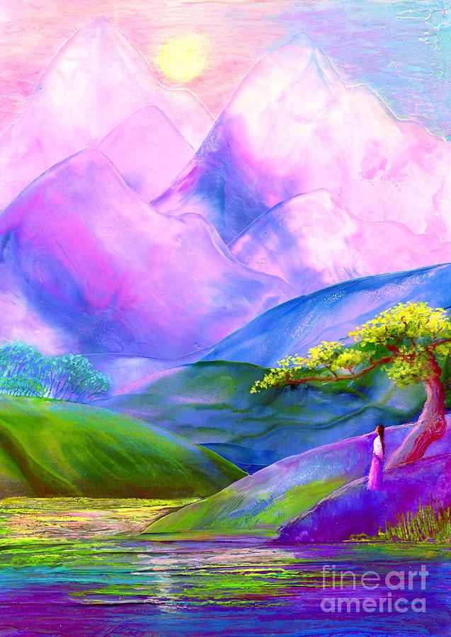 Mountain Painting - Greeting The Dawn by Jane Small