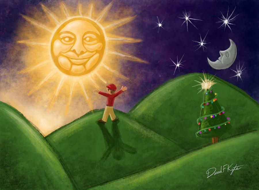 Solstice Digital Art - Greeting The New Sun by David Kyte