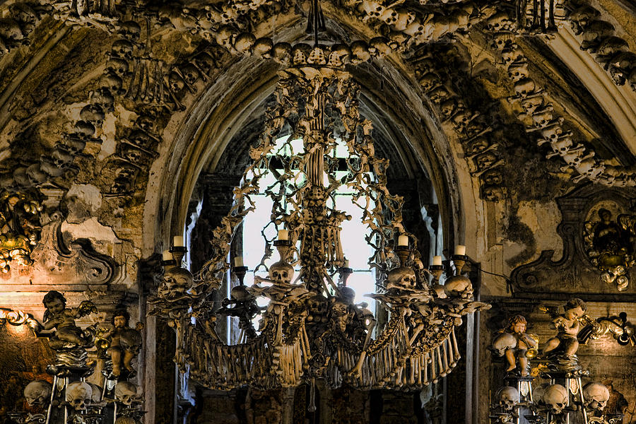 Ossuary Photograph - Greetings From Kutna Hora by Joanna Madloch