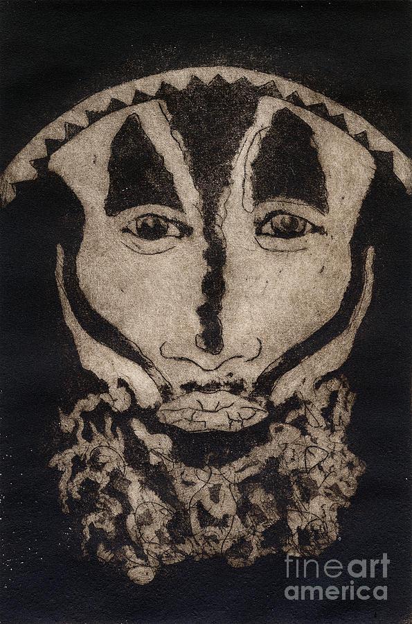 Greetings From New Guinea - Mask - Tribesmen - Tribesman - Tribal - Jefe - Chef De Tribu Painting
