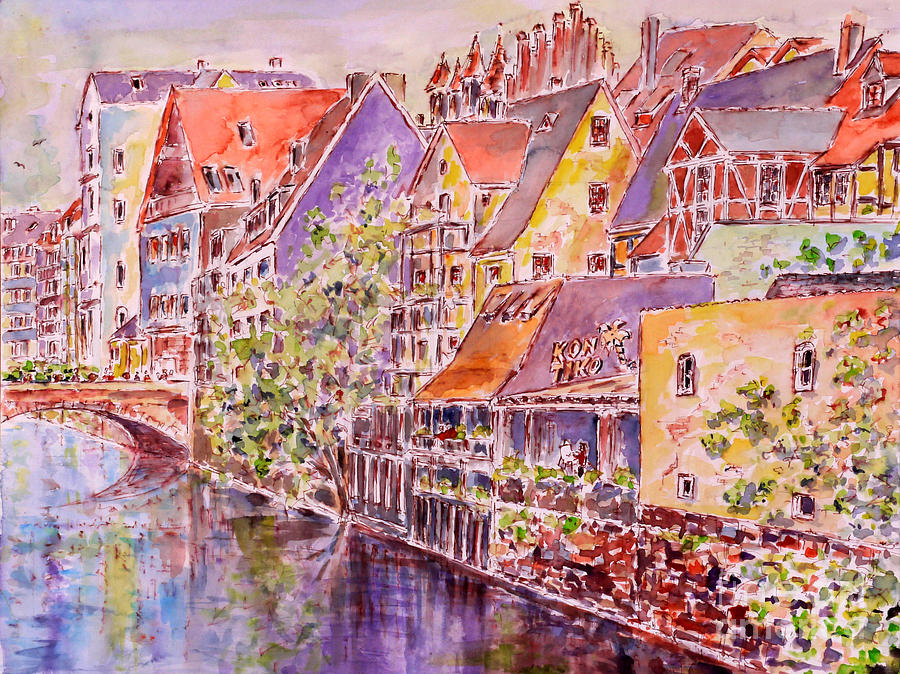 Watercolour Painting - Greetings From Nuremberg by Alfred Motzer