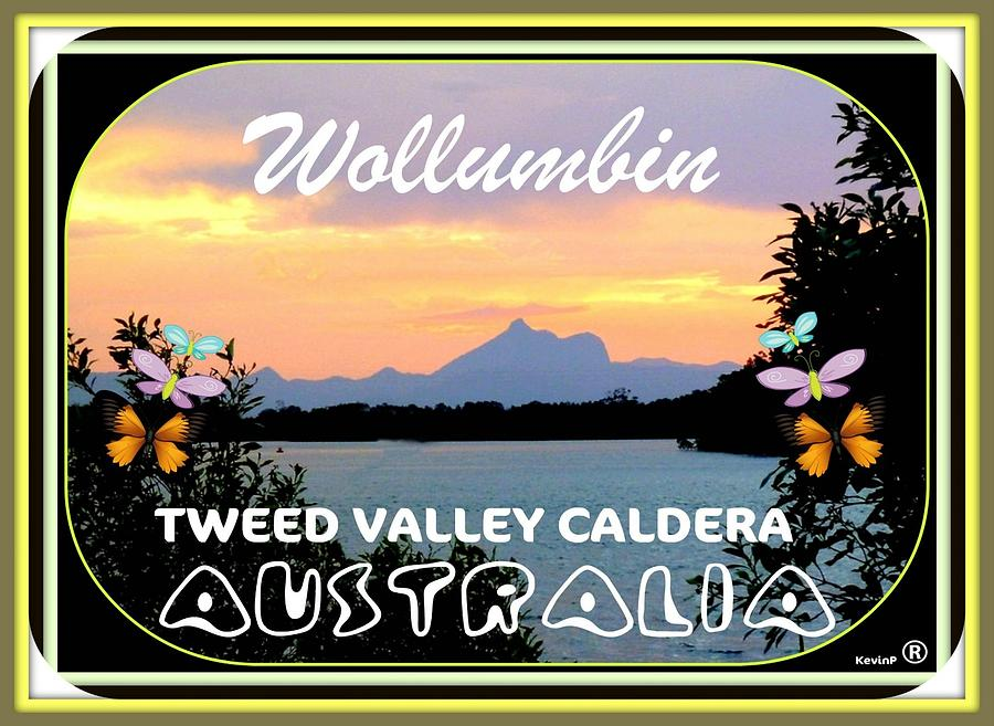 Greetings From Wollumbin Card Photograph by Kevin Perandis
