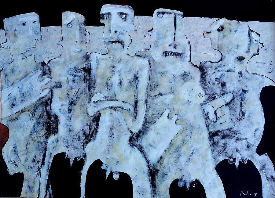 Group Painting - Grego No.4 by Mark M  Mellon