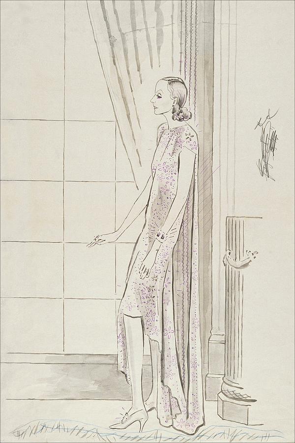 Greta Garbo By A Window Digital Art by Cecil Beaton