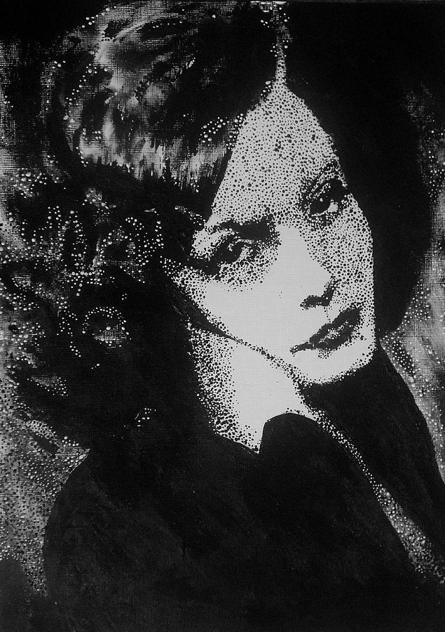 Film Star Painting - Greta Garbo by Cherise Foster
