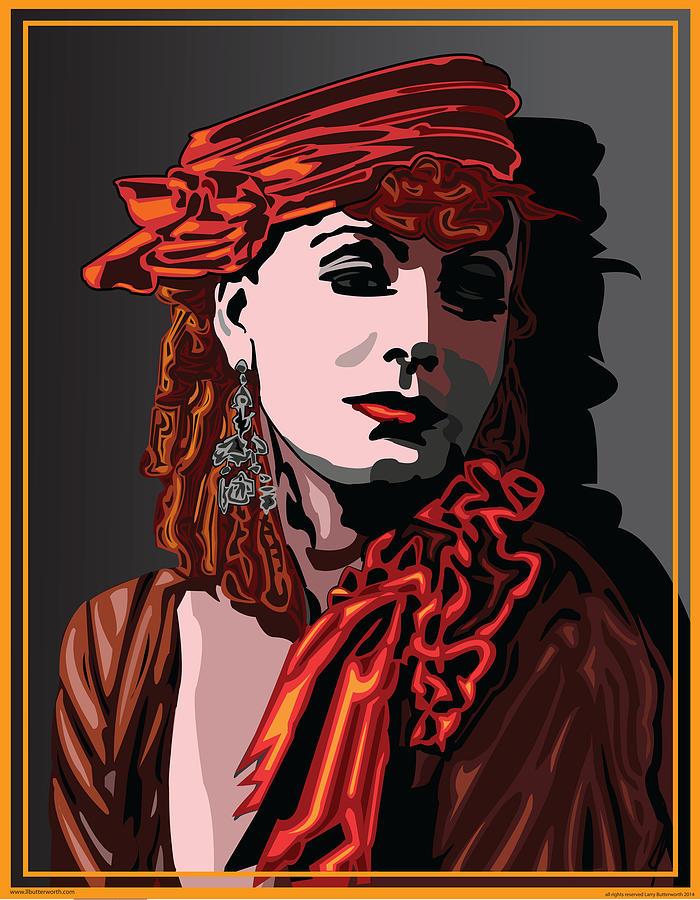 Greta Garbo Digital Art - Greta Garbo Hollywood The Golden Age by Larry Butterworth