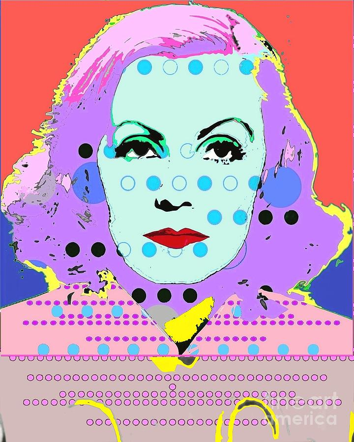 Greta Garbo Digital Art - Greta Garbo by Ricky Sencion