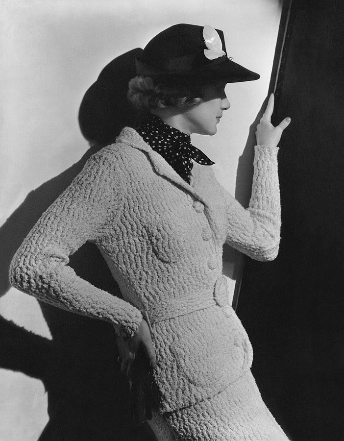 Accessories Photograph - Gretchen Uppercue Wearing A Suit And Hat by Lusha Nelson